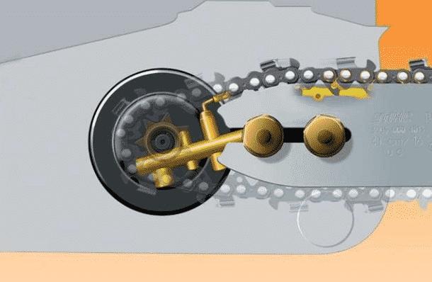 Как работает система смазки цепи бензопилы