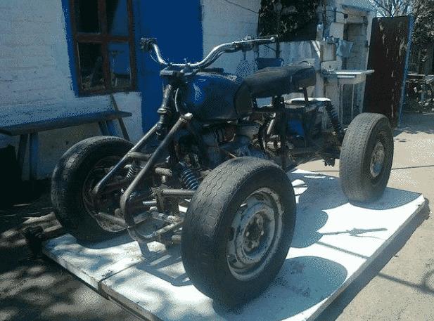 Квадроцикл своими руками из бензопилы
