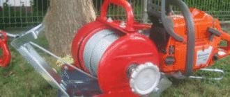 Насадка лебедка для бензопилы