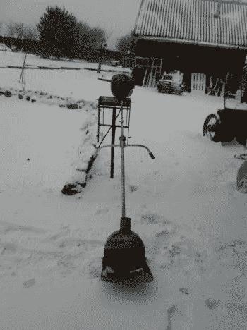 Снегоуборщик из триммера своими руками