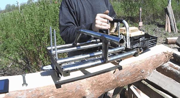 Виды приспособлений для распиловки брусьев и бревен