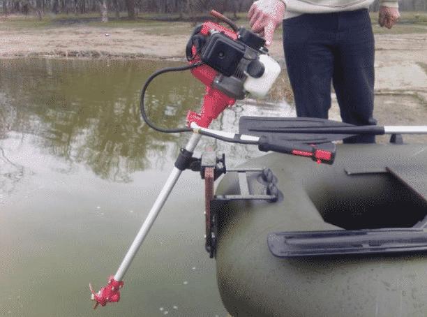 Как правильно пользоваться лодочным мотором из мотокосы