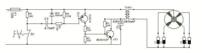 Электрическая схема зажигания мотоблока