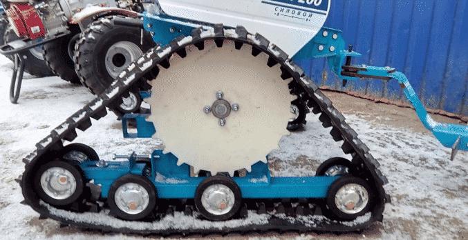 Особенности переделки колесных мотоблоков в гусеничные